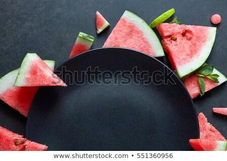dilimleri · kırmızı · karpuz · doku · yeşil · renk - stok fotoğraf © artjazz
