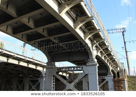 old bridge steel structure close-up 3 Stock photo © tracer