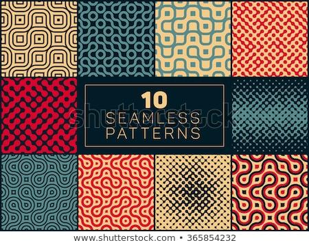 Vettore senza soluzione di continuità disegno geometrico raccolta set quattro Foto d'archivio © Samolevsky