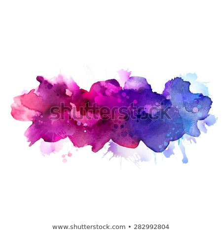pink purple watercolor stain vector design illustration Stock photo © SArts