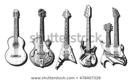 акустический рок гитаре стиль тип набор Сток-фото © Bigalbaloo