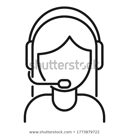 Stockfoto: Call · center · vrouw · icon · ontwerp · business · teken