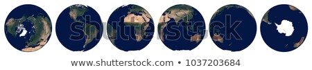 Realistic Earth from space centered on Asia Stock photo © Noedelhap
