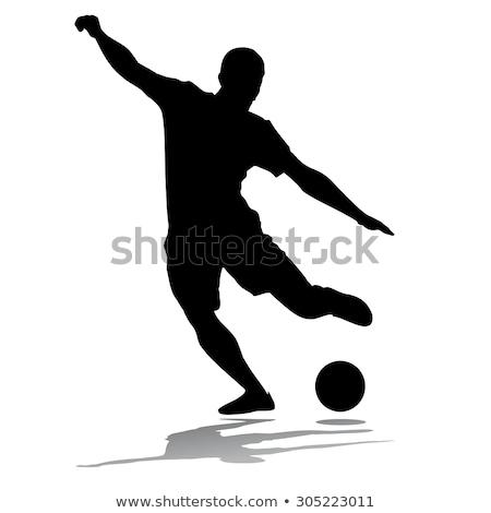 soccer player with ball sketch icon stock photo © rastudio