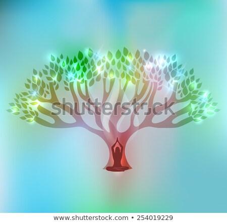 Сток-фото: большой · дерево · женщину · красивой