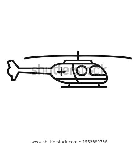 rescue helicopter line icon stock photo © rastudio