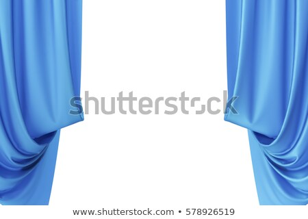 blue curtain on wind stock photo © simply