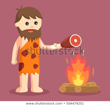 cute man ancient human cartoon Stock photo © jawa123