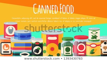 Orgánico sopa aluminio pueden ilustración fondo Foto stock © bluering