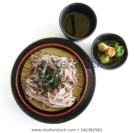 Bowl of Chilled Soba Noodles with Wasabi Stock photo © monkey_business