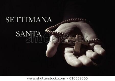 text settimana santa holy week in italian stock photo © nito