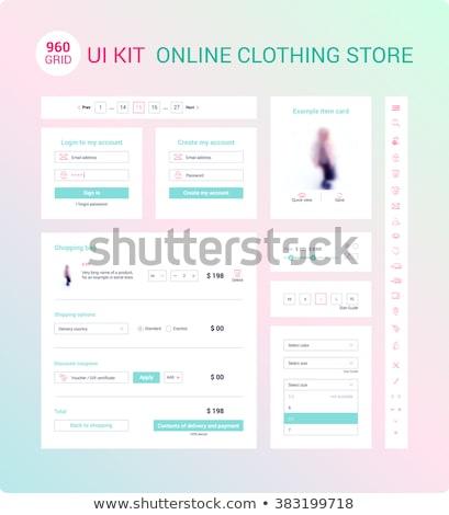 kullanıcı · arayüz · grup · renkli · uygulama · simgeler - stok fotoğraf © sarts