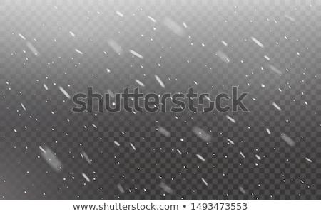 Színes hópelyhek hóvihar sötétség karácsony folyam Stock fotó © SwillSkill