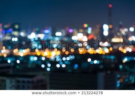 Defocused night city lights Stock photo © hamik