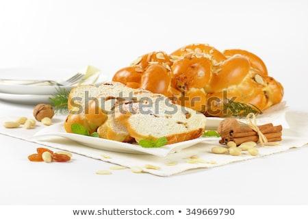 christmas sweet braided bread stock photo © digifoodstock