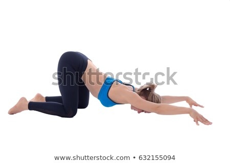Stretching of torso and anterior muscles Stock photo © blanaru