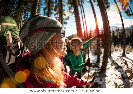 Montagna sole occhiali strada composito digitale donna Foto d'archivio © wavebreak_media