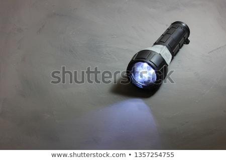 Elektromos elemlámpa nagy zseblámpa fehér éjszaka Stock fotó © ajt
