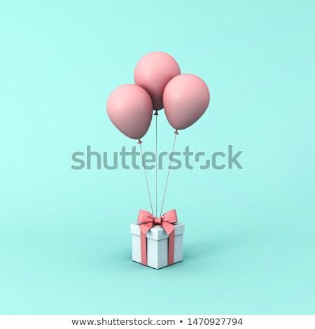 Balões cartão de presente corda sombra papel dom Foto stock © elaine