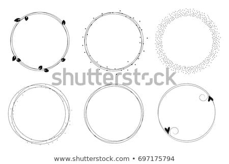 vintage monogram logo template with circle frame stock photo © reftel