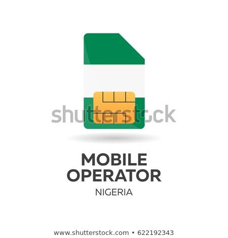 Komórkowych operatora karty banderą streszczenie projektu Zdjęcia stock © Leo_Edition