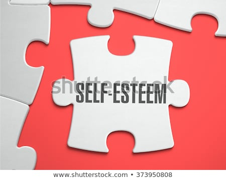 self esteem   puzzle on the place of missing pieces stock photo © tashatuvango