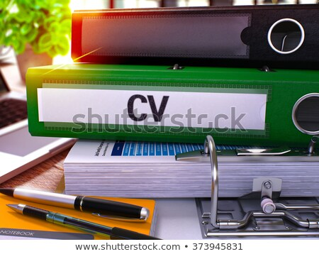 Stock photo: Green Office Folder with Inscription Cv