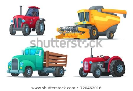 Ciągnika pojazd cartoon gospodarstwa ilustracja dziecko Zdjęcia stock © Krisdog