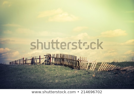 rural · village · scène · rurale · rustique · bois · clôture - photo stock © klinker