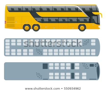 Isométrica ônibus 3D vetor transporte ícone Foto stock © Genestro