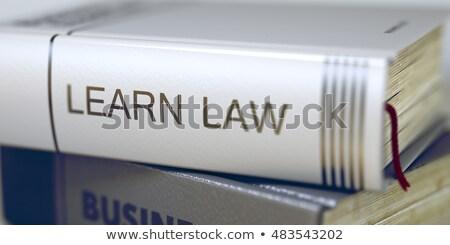 Leren recht business boek titel 3d illustration Stockfoto © tashatuvango