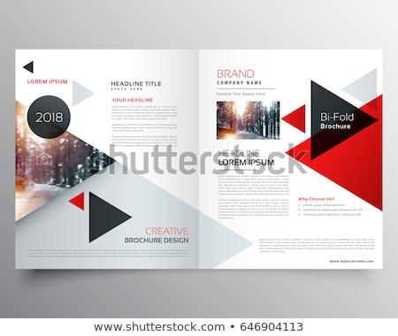 creative geometric bi fold brochure design template Stock photo © SArts