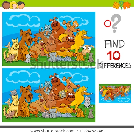 Spot the difference friendship Stock photo © Olena