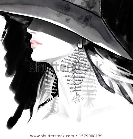 Hermosa ocultación cara sombrero mujer Foto stock © wavebreak_media