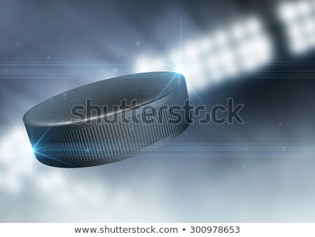 Hockey Puck In Flight Stock photo © albund