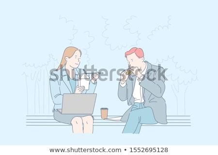 Office workers lunch break Stock photo © IS2