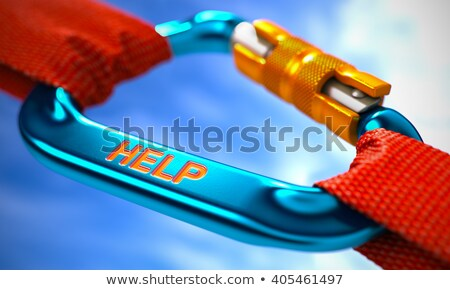 Help on Blue Carabine with a Red Ropes. Stock photo © tashatuvango