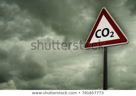曇った · 雲 · シンボル · 3次元の図 · 空 · にログイン - ストックフォト © drizzd