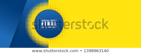 special offer banner design template with blue circles backgroun Stock photo © SArts