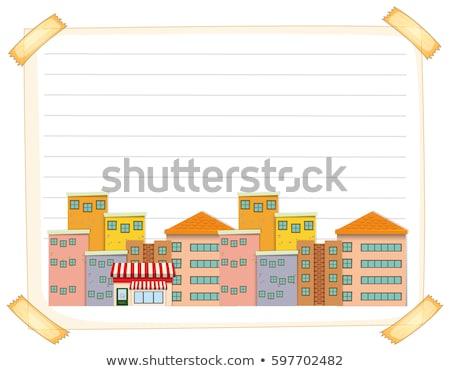 町 にログイン ベクトル 実例 クリップアート 画像 ストックフォト © vectorworks51