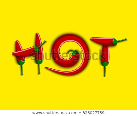 hot text composed of chili peppers stock photo © bsani