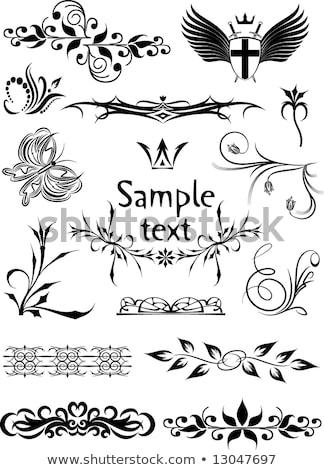 Готский стиль меч крыльями татуировка иллюстрация Сток-фото © vectomart
