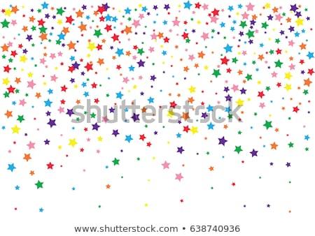 Regenboog star banner plaats kaart Stockfoto © Dazdraperma