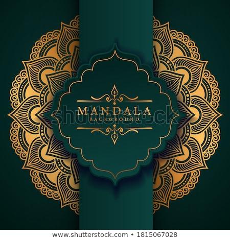 Fekete luxus arany mandala poszter terv Stock fotó © SArts