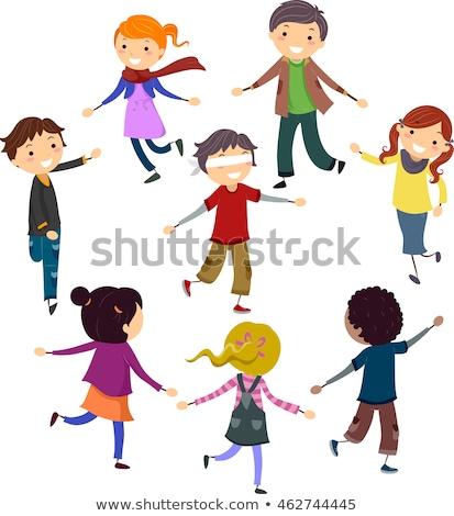 Dzieci pościg gry ilustracja dzieci gry Zdjęcia stock © lenm