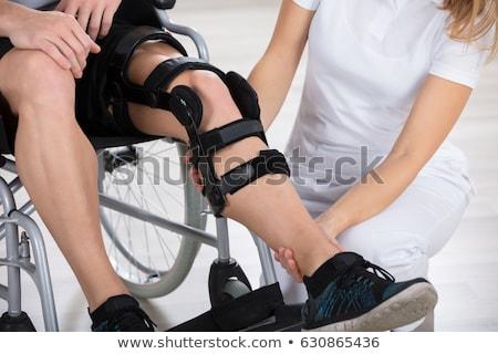 障害者 · 医師 · 座って · ホイール · 椅子 · 病院 - ストックフォト © andreypopov