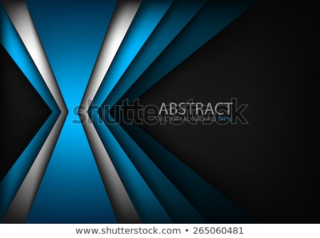Stock photo: Black and blue abstract background with broken lines, modern vector illustration