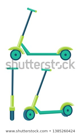 Kick Scooters Different Angles Set of Push Scooter Stock photo © robuart