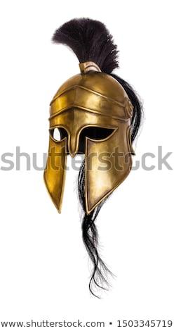 Zdjęcia stock: Spartan Ancient Greek Gladiator Warrior Helmet