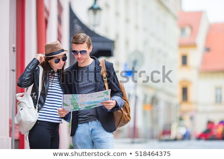 Couple looking at tourist attractions Stock photo © IS2